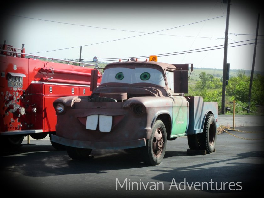 Meet Tow Tater who is currently on display at Cars on the Route.