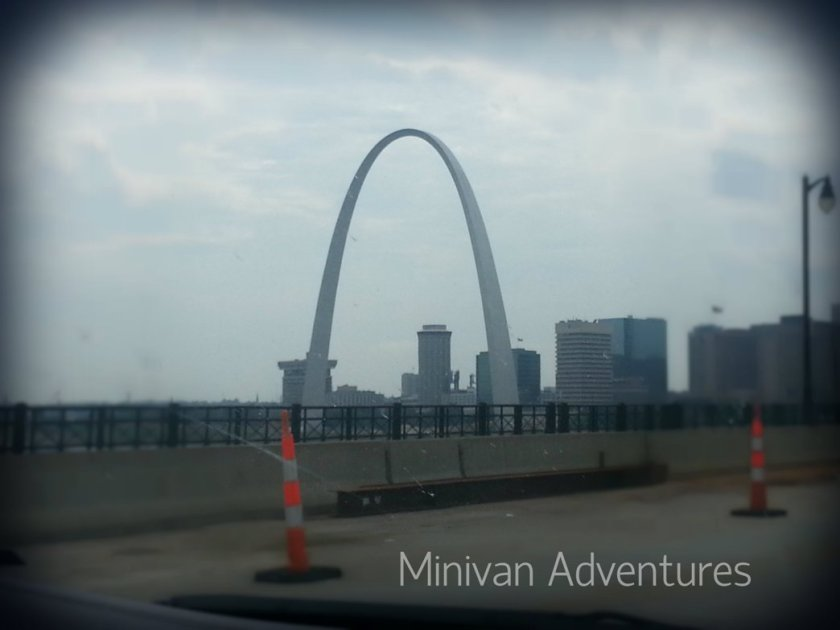 "Our three-year-old pointed out the minivan window and shouted ""Rainbow! Rainbow!"" when she saw the Gateway Arch in Saint Louis."