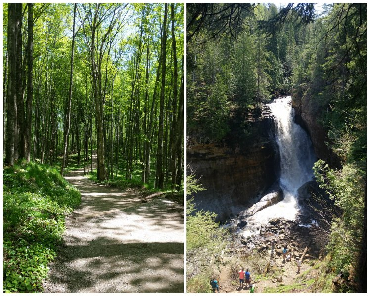 Miners Falls is the largest and most powerful waterfall at Pictured Rocks National Lakeshore.