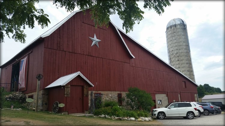 Lavender Hill Farm features a 100 year old barn as an event space for weddings and corporate events.