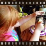 child grating cheese