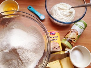 Scientific ingredients to make scones