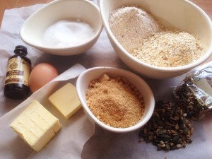 Ingredients for seed cookies