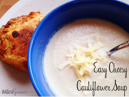 Easy Cheesy Cauliflower Soup
