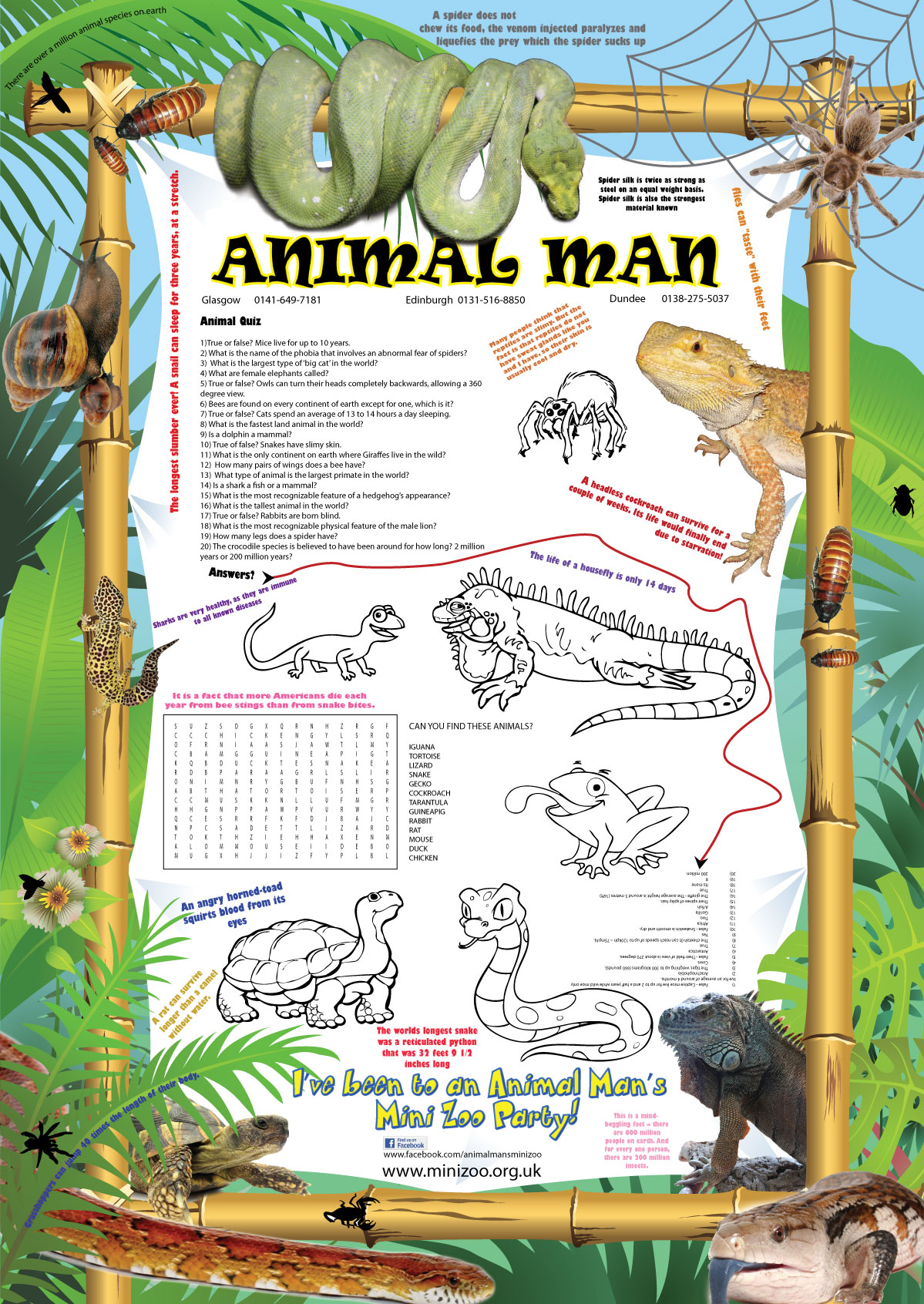 New Animal Man Party Poster
