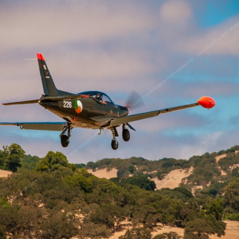 Siai Marchetti SF260 landing at Gnoss Field, Novato, CA