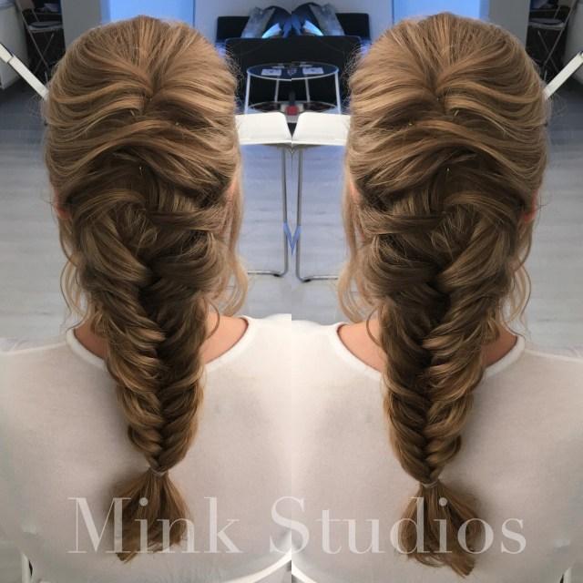prom hair, hair dresser, hair stylist, fishtail braid