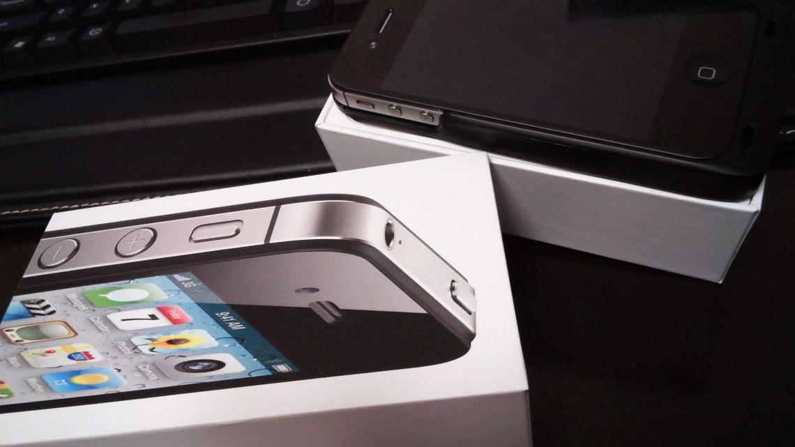 auのiPhone4Sを白ロムで買いました