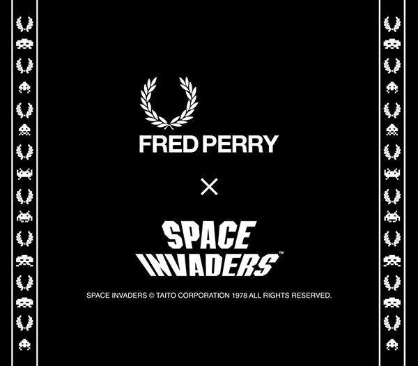 Fredperryとインベーダーがコラボするとポロシャツはこうなる!