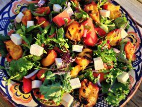 Skøn salat med vandmelon og abrikoser