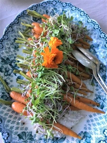 Grillede gulerødder med knas