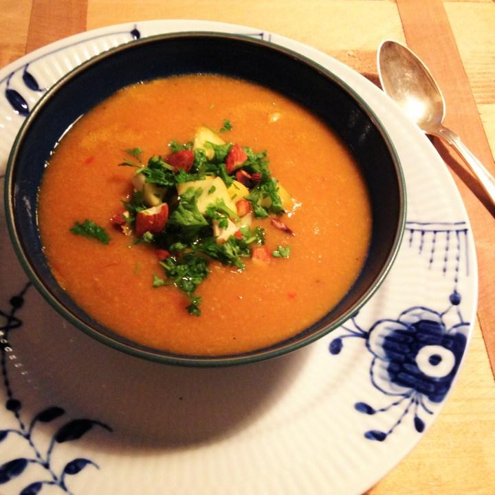 Gulerod/linsesuppe