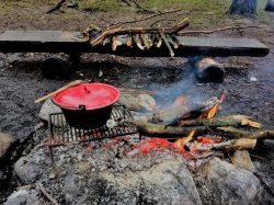 Suppen er klar efter endt gåtur