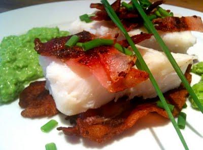 torsk med bacon
