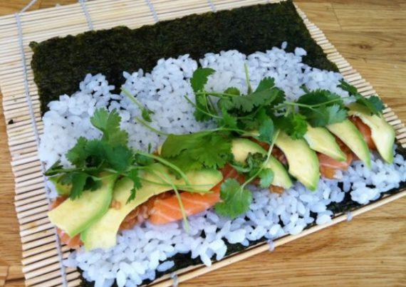 Maki sushi hjemmelaga