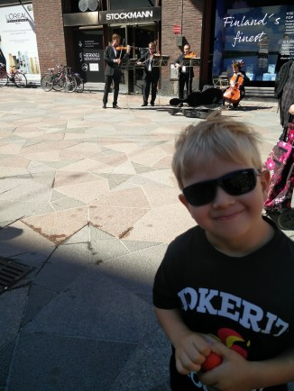 Street musicians. They played classical music and my son loved it :)