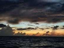 5:45 am first light over ocean day 2