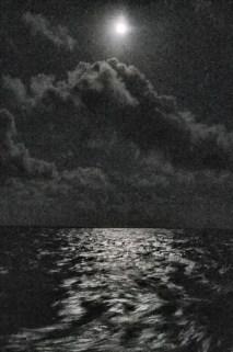 Moon over ocean 3 am