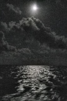 Moon over ocean 3 am