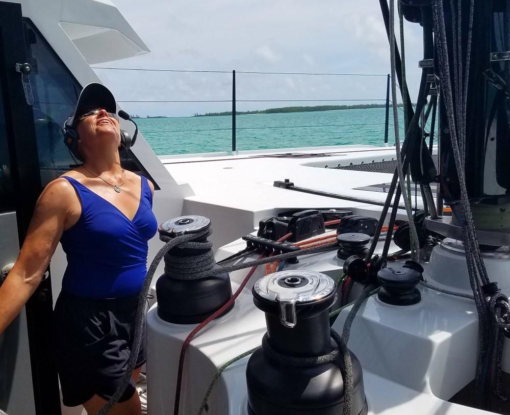 Raising main sail walkie w Doug 61217