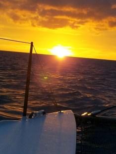 Sunset over ocean day 2