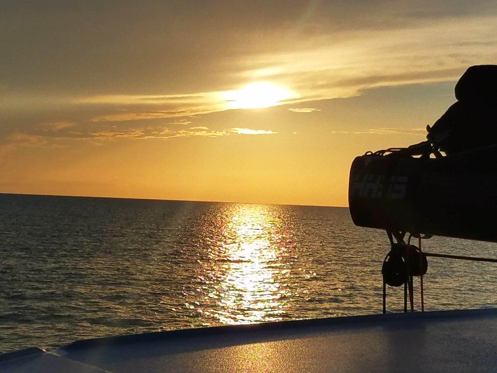 View off boat at mooring 6917