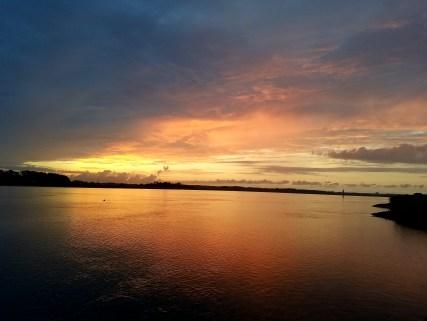 71617 Sunrise from end Thunderbolt marine dock