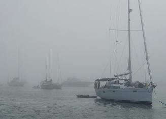 81017. Morning fog Block island RI3