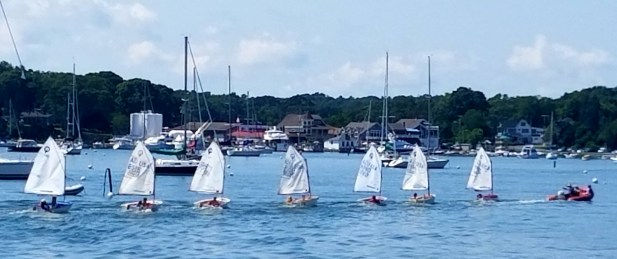 Sailing school over- 'little ducks' get towed back to shore