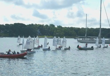 Sailing school- getting positioned for a race