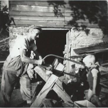Jan Heeringa met zijn zoon Gilbert