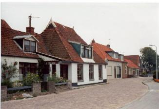 Links het pand waar Sijtse en Sijtske gewoond hebben