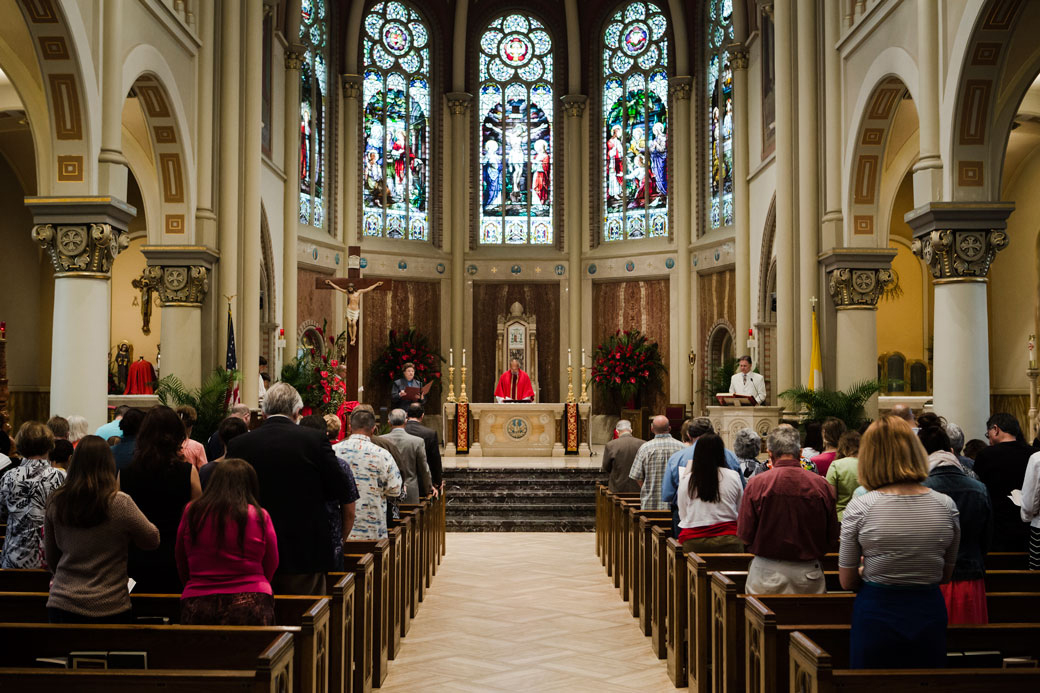 Palm Sunday services at the Cathedral of St. John the Evangelist