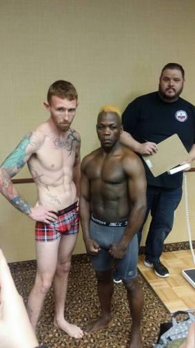 Philip Adyaka (right) and Dale Bennett