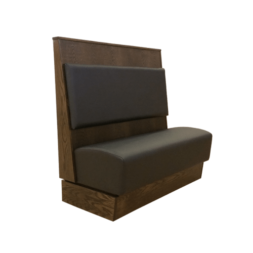 booths with interchangeable cushions in flat black