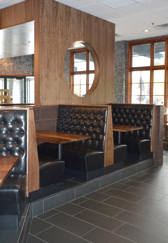 bar booth and custom millwork