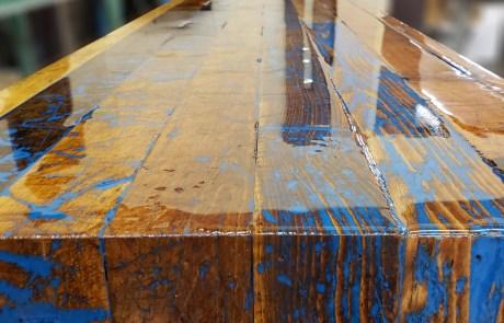 Reclaimed wood bar top