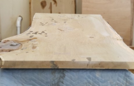 live edge table in process