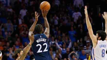 Timberwolves' Andrew Wiggins Beats Buzzer From DEEP to Shock OKC