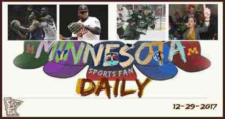 MINNESOTA SPORTS FAN DAILY: Friday, December 29, 2017