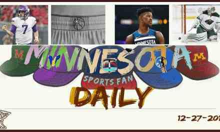MINNESOTA SPORTS FAN DAILY: Wednesday, December 27, 2017