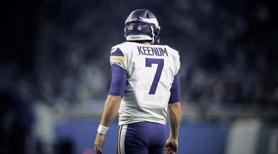 pretty nice 63223 b8076 Case Keenum Joins ELITE Club of Vikings by Winning NFC ...