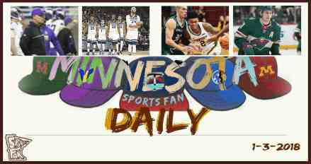 MINNESOTA SPORTS FAN DAILY: Wednesday, January 3, 2017