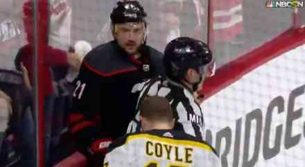 Coyle and Niederreiter Almost Dropped Gloves Last Night in ECF
