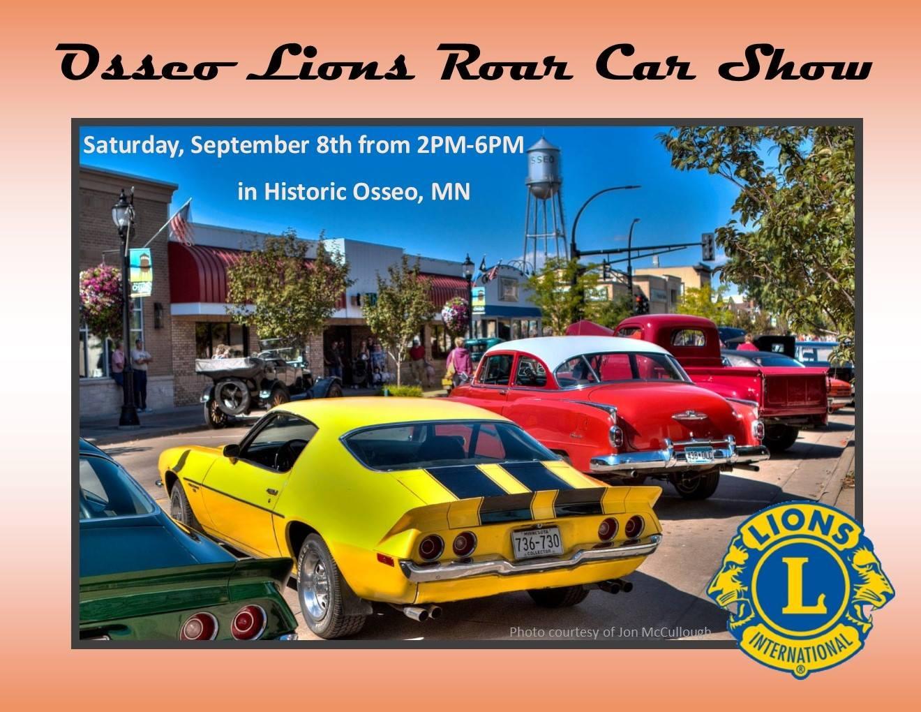 Osseo Lions Roar Car Show Minnesota United MINIS - September car shows