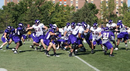 Photo of Vikings practice during the 2011 training camp