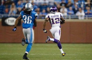 Photo - Percy Harvin Returns A Kickoff For A Touchdown Against The Detroit Lions