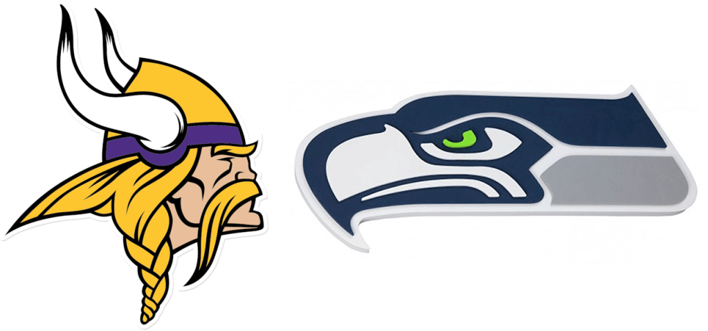 Logos: Vikings vs Seahawks