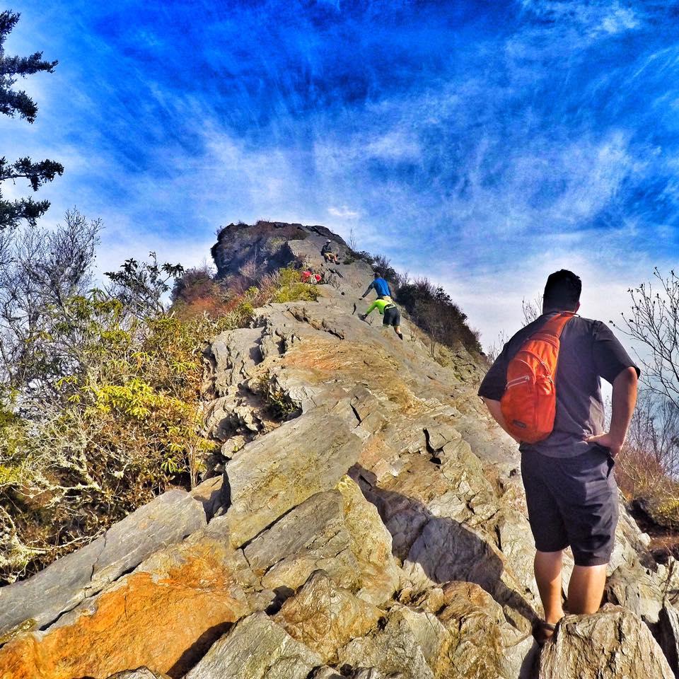 Hiking Chimney Tops Trail
