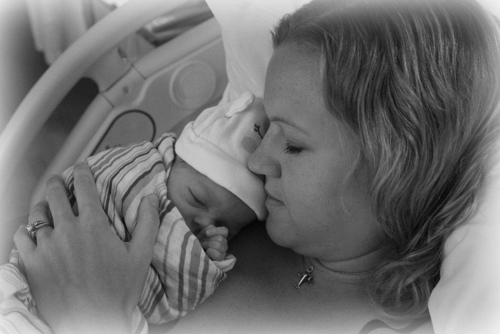New mom with newborn